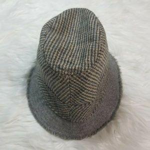 J.Crew Houndstooth Fedora Bucket Hat